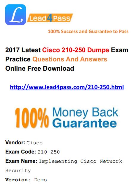 lead4pass 210-250 dumps