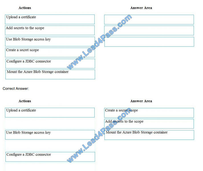 lead4pass dp-200 exam questions q6