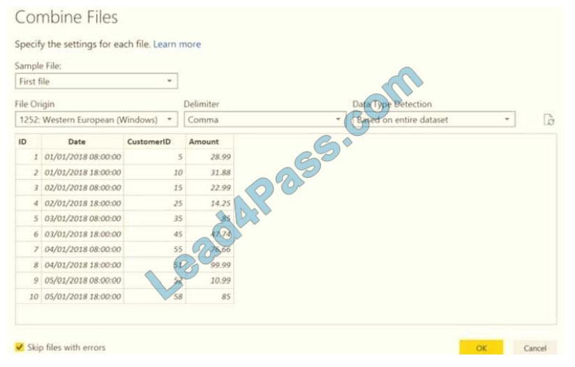 lead4pass da-100 exam questions q11