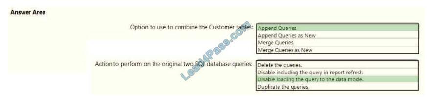 lead4pass da-100 exam questions q2-1