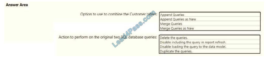 lead4pass da-100 exam questions q2