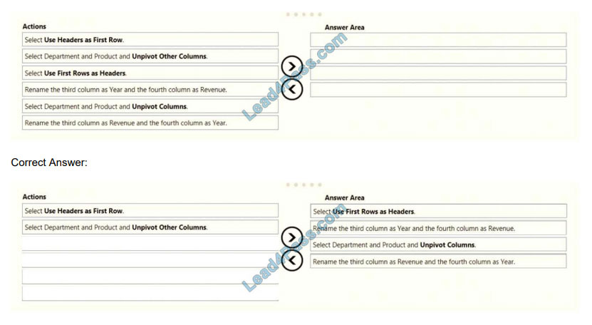 lead4pass da-100 exam questions q7-1