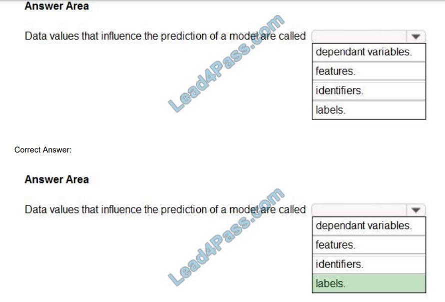 lead4pass ai-900 exam questions q9