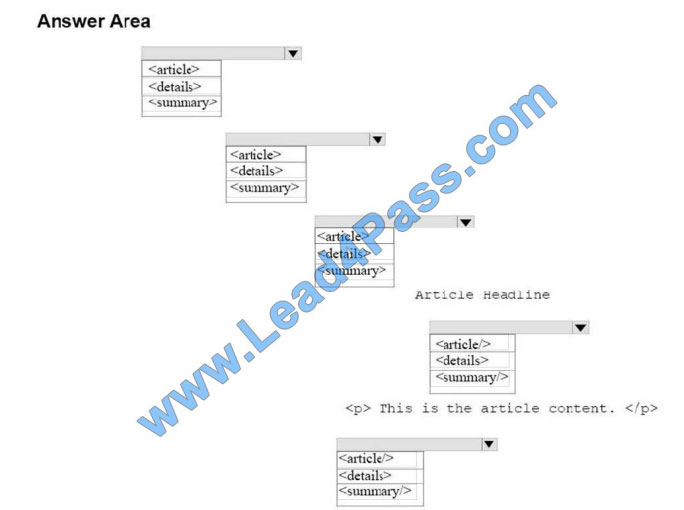 lead4pass 98-383 practice test q8-1
