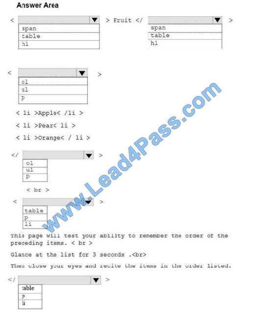 lead4pass 98-383 practice test q9-1