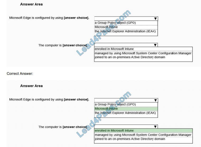 microsoft md-100 certification exam q12-1