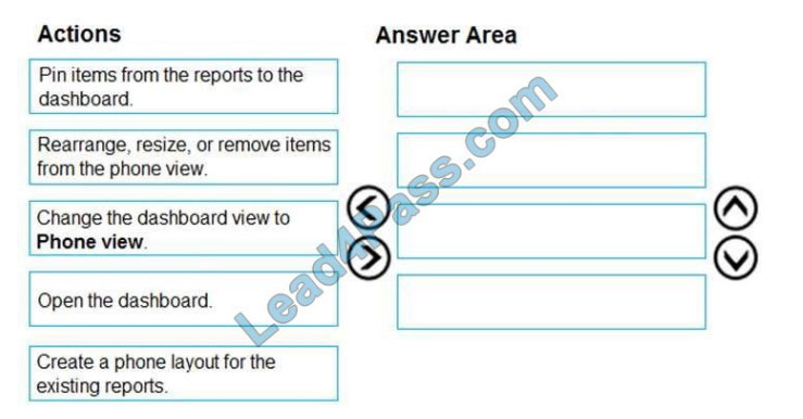 microsoft da-100 certification exam q11