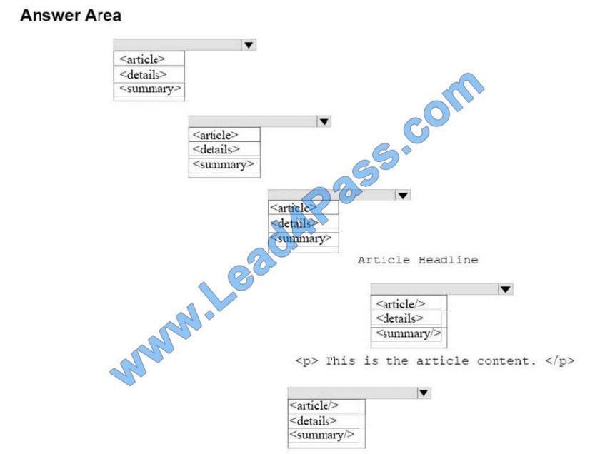 microsoft 98-383 exam questions q10-2