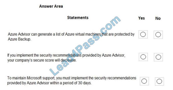 microsoft az-900 exam questions q3